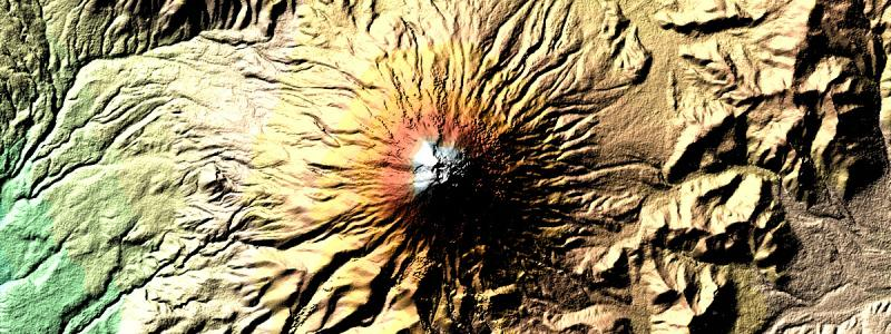 Digital elevation model of Cotopaxi, NASA (Wikimedia Commons)
