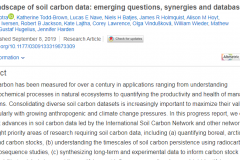 The landscape of soil carbon data: emerging questions, synergies and databases