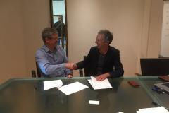 Signing the Framework Agreement with Landcare Research